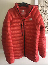 THE NORTH FACE SUMMIT SERIES RED HOODED PUFFER JACKET SIZE LARGE MENS