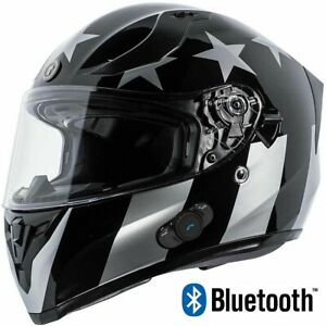 TORC T15B Bluetooth Full Face Motorcycle Helmet Dual Visor Captain Shadow