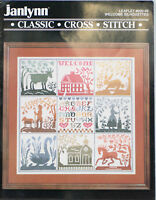 Janlynn Cross Stitch Pattern Welcome Silhouettes Classic 80s Vintage 1988 900-09