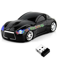 Cool style 2.4GHz Wireless 3D 1600DPI Infiniti Car Optical Usb Gaming Mouse Mice