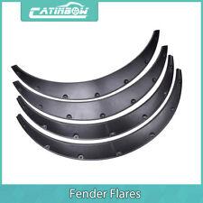 4x Universal Black Fender Flares Durable Flexible Auto Car Body Kit SUV Offroad