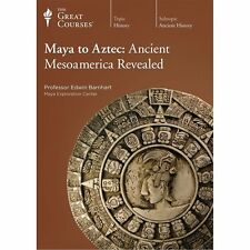 The Great Courses ~ Maya to Aztec: Ancient Mesoamerica Revealed~ Book/DVD's NEW!