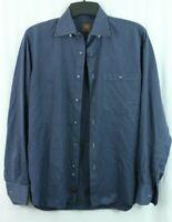 IKE BEHAR men's M striped Luxurious Dress Shirt NEW YORK Button Up