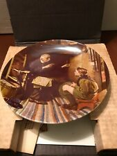"1988 Norman Rockwell Collector Plate ""The Veteran"" by Edwin M. Knowles w/Box"
