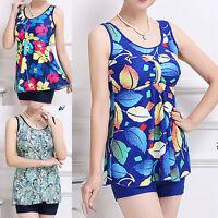 Women Ladies Two Piece Swimdress Swimwear Beach Dress Size 12 14 16 18 20 #6071