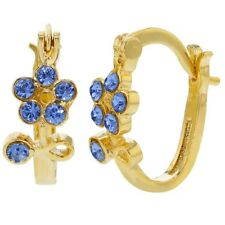 Handmade Gold Titanium Bicolor Crystal Point Dangle Hoop Huggie Earrings HHD0009