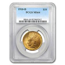 1910-D $10 Indian Gold Eagle MS-64 PCGS