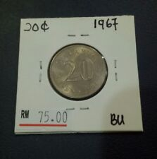 Malaysia 20 SEN 1967 BU