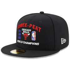 Chicago Bulls New Era NBA 3-Peat Champions 59FIFTY Fitted Hat - Black