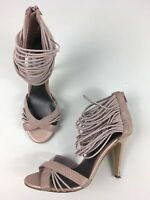 WOMENS NEXT UK 6 EU 39 LIGHT PINK SNAKE EFFECT LEATHER HIGH HEEL STRAPPY SHOES