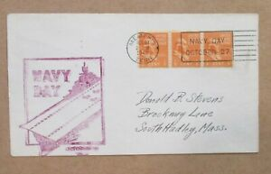 """NAVAL COVER """"NAVY DAY 1948 """"RECEIVING STATION  MEMPHIS, TENN """"  wSLOGAN See Pic"""