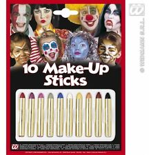 Makeup Crayons 10 Set for Face Body Paint Stage Accessory