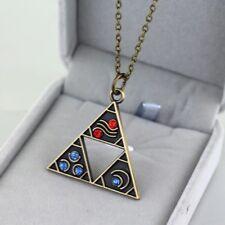 Legend Of Zelda BOTW Bronze Triforce Metal Charm Necklace Link Between Worlds