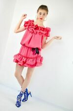Lanvin H & M Pink Ruffle Cocktail Party Dress Size 4 34