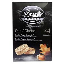 Bradley Technologies Smoker Bisquettes Oak 24 Pack Rich Flavored Wood Btok24