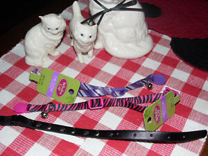 """WHISKER CAT COLLAR BUNDLE~THREE 12"""" ALL DIFFERENT DESIGNS AND COLORS~NWT~CT#10"""