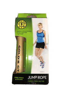Golds Gym 9 Foot Lightweight Jump Rope Swivel Wood Handles Jumping Rope New