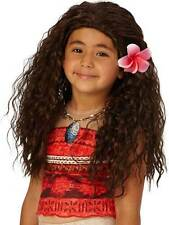 Moana Wig Kids Fancy Dress Disney Princess Book Week Film Character Girls New