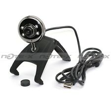 Noir USB 2.0 Numérique 6 LED Webcam PC Caméra w/Mic 1.3 Mega Pixel Pratique