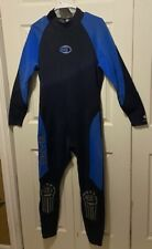 Men's Bare 1mm Thermal Skin Dive Skin Blue and Black Wetsuit Size L