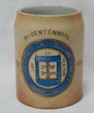 Antique 1901 Yale University Miniature Mug Match Holder College Bi-Centennial
