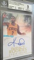 2012-13 INTRIGUE ROOKIE AUTO #43: KYRIE IRVING #21/99 ON CARD AUTOGRAPH RC BGS 9