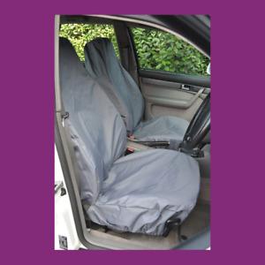 Front Pair Car Van Grey Waterproof LARGE Universal Airbag Compatible Seat Covers