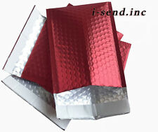 0 65x9 Poly Bubble Mailers Mailing Padded Envelopes Metallic Red