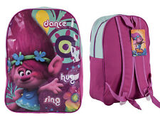 """Official Trolls """"Poppy"""" Character Ex-Large School Backpack Pink"""