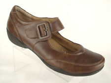 Taos Brown Mary Jane Loafers Buckle Strap Leather Womens Sz US 10/EU 40