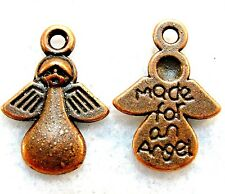 """50Pcs. WHOLESALE Tibetan Antique Copper """"Made For An Angel""""  Charms Tags Q1160"""