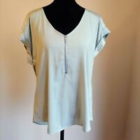 Vylette Sage Green Cap Sleeve Tunic Top