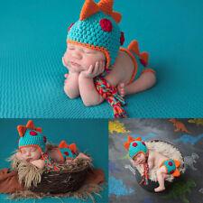 96521c90d75 Baby Boy Dinosaur Outfit Newborn Photography Props Knit Infant Infant  Accessorie