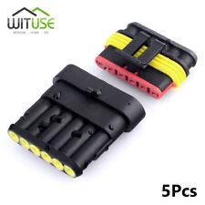 5 packs 6 pin way waterproof IP68 electrical wire motorcycle connector plug kits