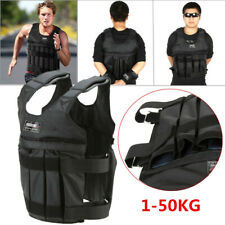 Max Loading 50kg Adjustable Weighted Vest Jacket Exercise Boxing Waistcoat UK