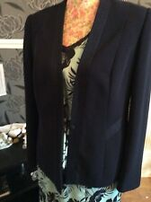 Jacques Vert Mint Green Navy 3 Piece Suit Size 14 Jacket S 12 Pristine Hols 9may