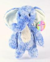 "AURORA SMITTIES cuddly blue ELEPHANT 11"" plush soft toy newborn baby - NEW!"