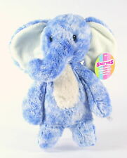 "AURORA SMITTIES cuddly blue ELEPHANT 11"" plush soft toy newborn baby - NEW!"