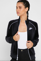 NIKE VELOUR WOMEN JACKET BLACK NWT FULL ZIP CJ4912-010 Multiple Sizes