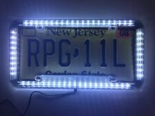 Universal 12V LED Lighting Acrylic Plastic License Plate Cover Frame 3 Colors