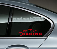 Racing Sport Car Truck SUV Window Vinyl Decal sticker emblem Logo RED