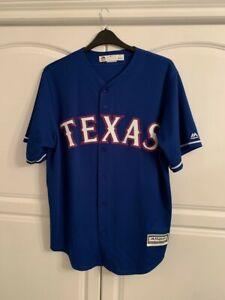 Texas Rangers MLB Baseball Blue Jersey Large