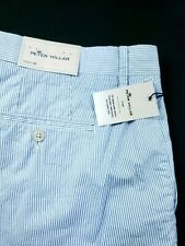 Peter Millar Crown Sport Performance Blue Stripe Golf Short $98 Sz 40