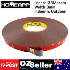 AU STOCK 3M Genuine Automotive Acrylic Plus Double Face Sided Tape 8mm 33Meters