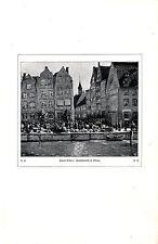 Robert Richter Gemüsemarkt in Elbing Histor. Kunstdruck v.1907