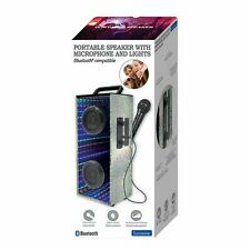 NEW Lexibook Portable Karaoke Bluetooth Speaker With Microphone And LED Lights