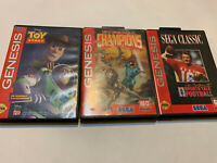 SEGA GENESIS HARDSHELL GAME LOT SET TOY STORY COMPLETE ETERNAL CHAMPIONS SPORTS