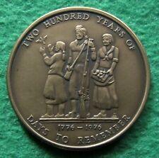 1776-1976 Georgia Bicentennial Medal - Antique Bronze - Free U S Shipping