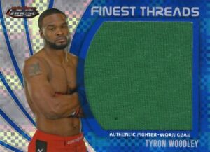 Tyron Woodley 2012 Topps UFC Finest Jumbo Threads Relic Card #116/188