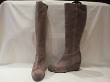 Clarks Suede Wedge Knee High Boots for Women